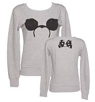 Ladies Mouse Ears And Bow Sweater