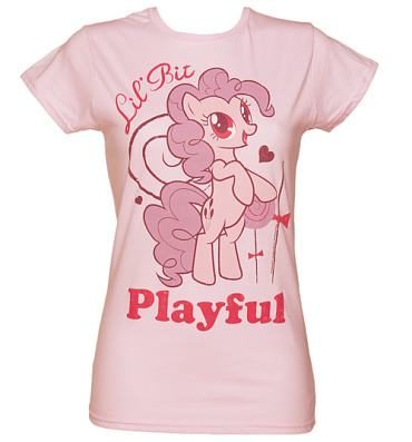 Ladies My Little Pony Friendship is Magic Pinkie Pie Playful T-Shirt