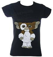 Ladies Navy Gremlins Rules T-Shirt from Sticks and Stones