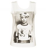 Ladies Off White Debbie Harry Sailor Sleeveless T-Shirt from Dirty Cotton Scoundrels