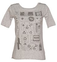 Ladies Old School Gamer Slouch Scoop Neck T-Shirt