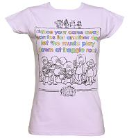 Ladies Pastel Purple Fraggle Rock Theme Tune T-Shirt