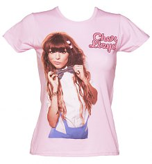 Ladies Pink Bow Tie Cher Lloyd T-Shirt [View details]