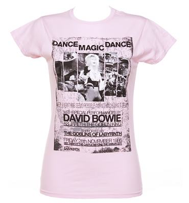 Ladies Pink Dance Magic Dance Labyrinth Poster T-Shirt