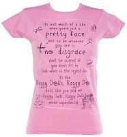 Ladies Pink Raggy Dolls Theme Tune T-Shirt