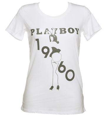 Ladies Playboy 1960 Bunny Girl T-Shirt from Palmercash