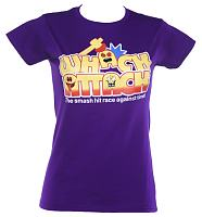 Ladies Purple Whack Attack Logo T-Shirt