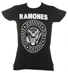 Ladies Ramones Hey Ho Let's Go T-Shirt [View details]