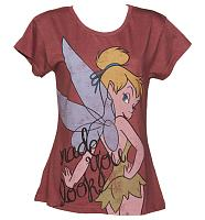 Ladies Red Made You Look Tinkerbell T-Shirt from Fabric Flavours