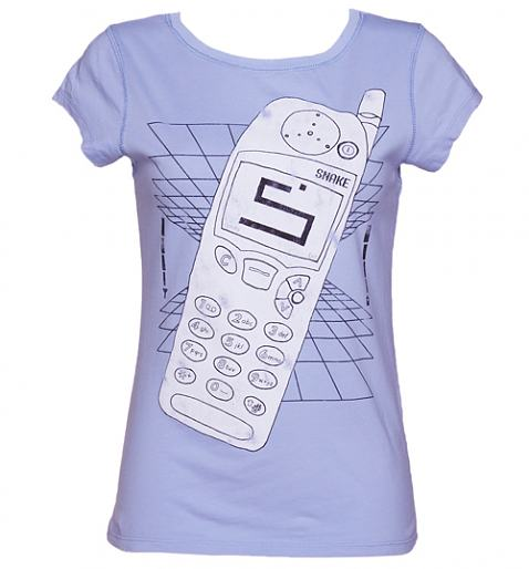 Ladies Retro Phone And Snake Vintage T-Shirt