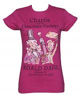 Ladies Roald Dahl Charlie And The Chocolate Factory T-Shirt