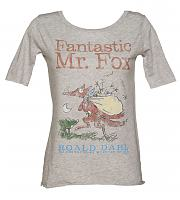 Ladies Roald Dahl Fantastic Mr Fox Slouch Scoop Neck