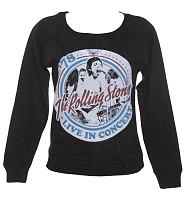 Ladies Black Speckled Rolling Stones Tour '78 Sweater from Amplified Vintage