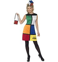 Ladies Rubik's Cube Fancy Dress With Headband