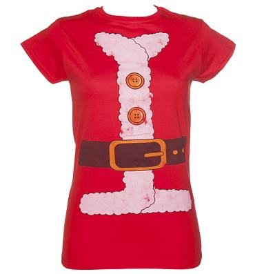 Ladies Santa Costume T-Shirt