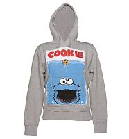 Ladies Sesame Street Cookie Monster Movie Poster Hoodie
