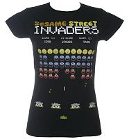 Ladies Sesame Street Invaders T-Shirt