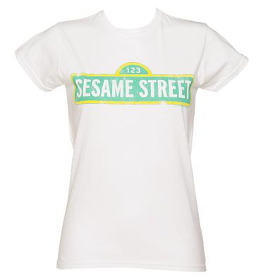 Ladies Sesame Street Logo T-Shirt