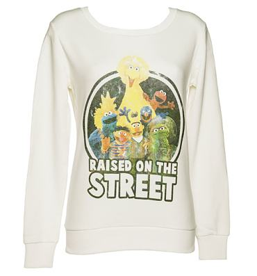 Ladies Sesame Street Raised On The Street Sweater
