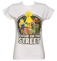 Ladies Sesame Street Raised On The Street T-Shirt