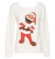 Ladies Sesame Street Santa Elmo Sweater