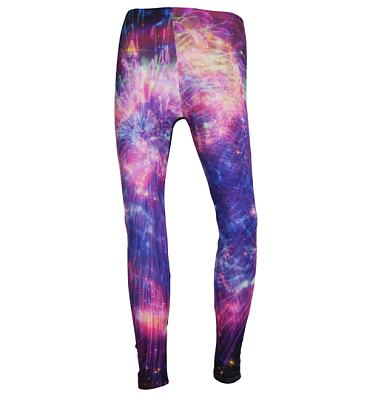 Ladies Shiny Firework And Nebula All Over Print Leggings from Mr Gugu & Miss Go