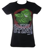 Ladies Slimer Making A Stink Since 1984 Ghostbusters T-Shirt