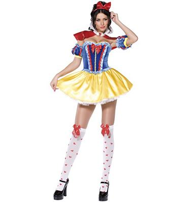 Ladies Snow White Fancy Dress Costume