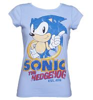 Ladies Sonic The Hedgehog Vintage T-Shirt