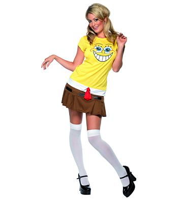 Ladies SpongeBob Squarepants Fancy Dress Costume