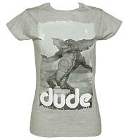 Ladies Sport Grey Dude Gremlins T-Shirt