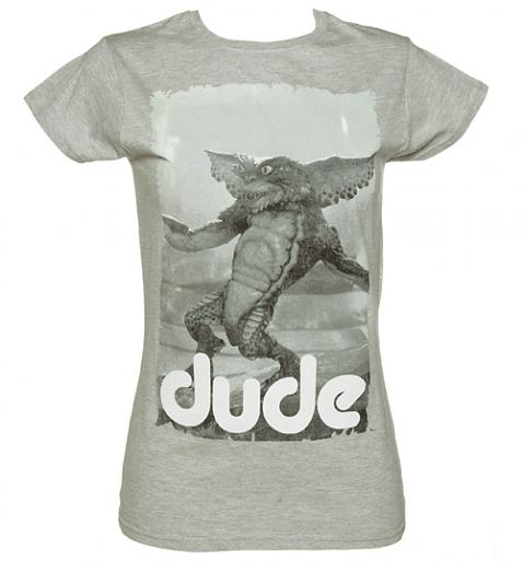 Ladies Sport Grey Dude Gremlins T-Shirt from Sticks and Stones