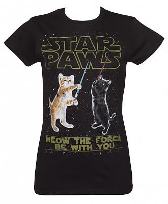 Ladies Star Paws Parody T-Shirt