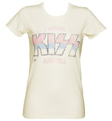 Ladies Sugar White I Never Kiss And Tell T-Shirt from Junk Food [View details]