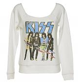 Ladies Sugar White Kiss Off The Shoulder Sweater from Junk Food