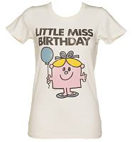 Ladies Sugar White Little Miss Birthday Vintage T-Shirt from Junk Food