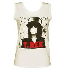 Ladies Sugar White T-Rex Photo Print Sleeveless T-Shirt from Dirty Cotton Scoundrels [View details]