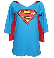 Ladies Supergirl Night Dress With Cape