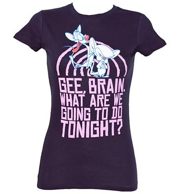 Ladies Take Over Pinky And The Brain T-Shirt
