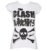 Ladies The Clash Skull White T-Shirt from Amplified Vintage