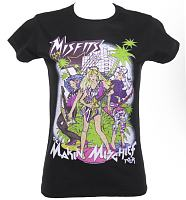Ladies The Misfits Making Mischief Jem and The Holograms Tour T-Shirt