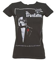 Ladies The Tronfather Longline Transformers T-Shirt