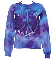 Ladies Tie Dye 90's Peace And Bones Sweater from Worn By