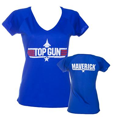 Ladies Top Gun Maverick V-Neck T-Shirt