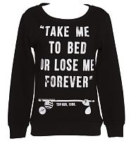 Ladies Top Gun Take Me To Bed Sweater