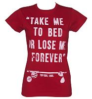 Ladies Top Gun Take Me To Bed T-Shirt