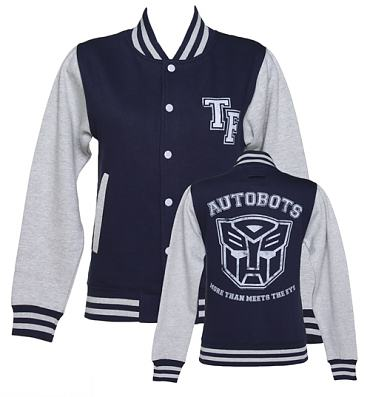 Ladies Transformers Autobots More Than Meets The Eye Varsity Jacket
