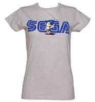 Ladies Vintage Sonic and Sega Logo T-Shirt
