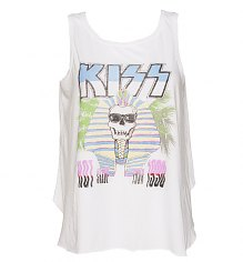 Ladies White 1990 Tour Kiss Swing Vest from Junk Food [View details]