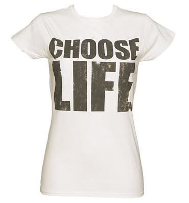 Ladies White Choose Life T-Shirt